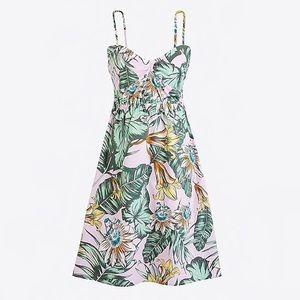 J.Crew Printed poplin cami dress size M
